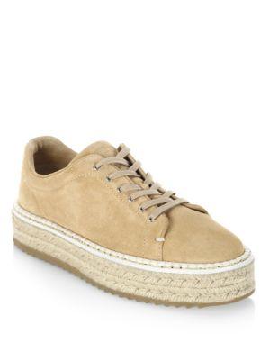 Kent Suede Espadrille Platform Sneakers