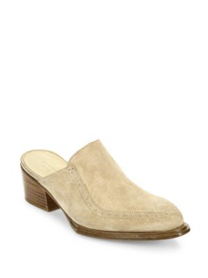 Weiss Suede Mules