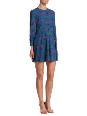 Multi Pansy Mini Dress