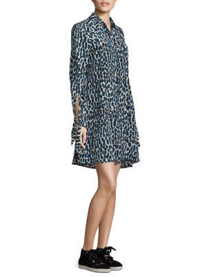 Silk Leopard Shirtdress