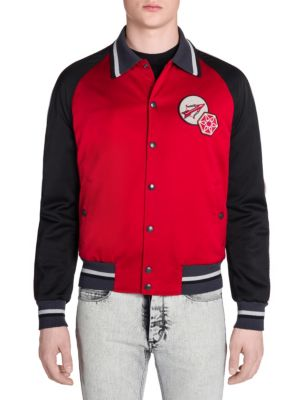 Lobster Colorblocked Satin Jacket