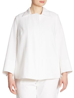 Phillipe Textured Jacket by Lafayette 148 New York, Plus Size