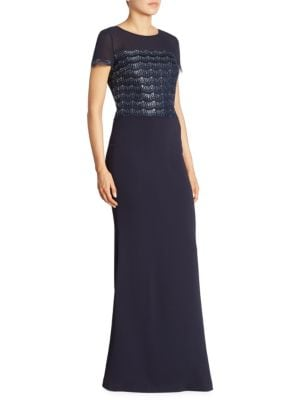 Buy St. John Short Sleeve Lace Gown online with Australia wide shipping