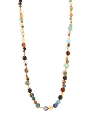 Semi-Precious Multi-Stone Layering Necklace/36