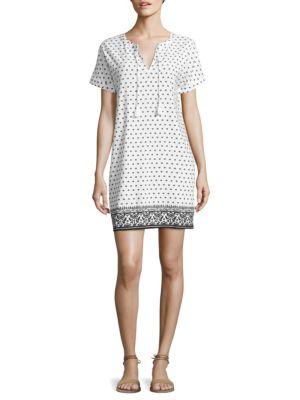 Printed Linen Blend Tunic