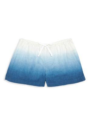 Girl's Dip-Dye Linen Shorts