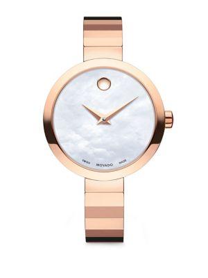 Novella Round Case Stainless Steel Bracelet Quartz Analog Watch