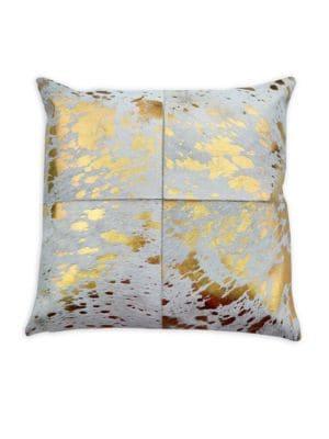 Stenciled Calf Hair Pillow