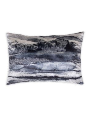Dip-Dyed Velvet Lumbar Pillow