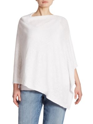 Rib-Knit Slub Poncho by Eileen Fisher, Plus Size