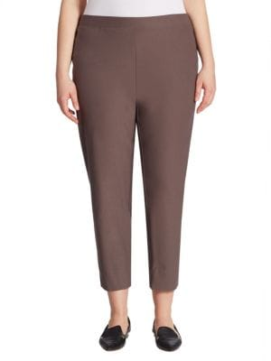 Crepe Slim-Fit Cropped Pants