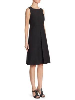 Inverted Pleat A-Line Dress