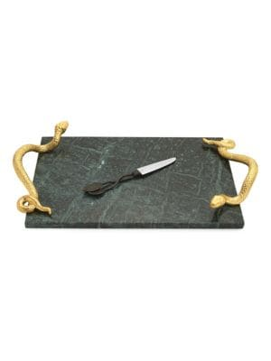 Rainforest Marble Cheese Board & Knife