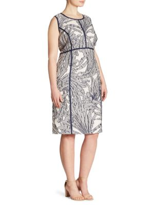 Mariana Palm Fil Coupe Dress