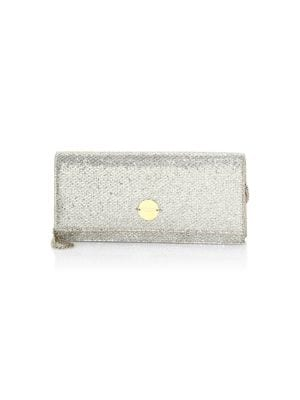 Fie Metallic Glitter Chain Clutch