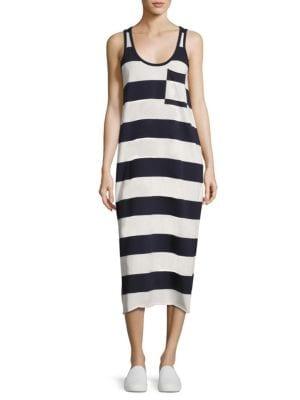 Striped Mercerized Cotton Dress
