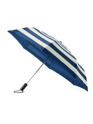 Off We Go Jubilee Striped Travel Umbrella
