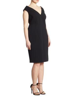The Shapely Project: Marina Rinaldi x Ashley Graham Portrait Collar Dress