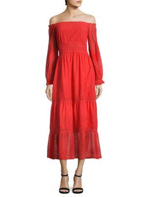 Tessa Embroidered Off-the-Shoulder Dress
