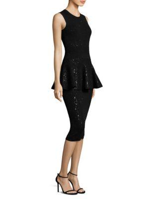 Crewneck Peplum Dress