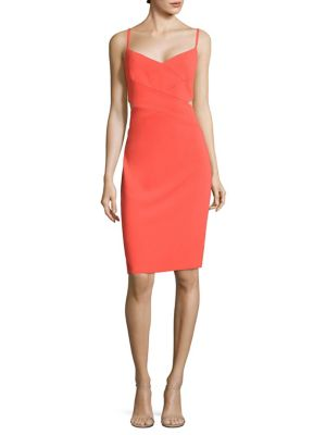 Cutout Crepe Sheath Dress
