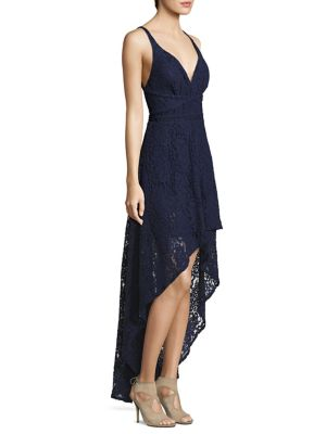 Buy Laundry by Shelli Segal Hi-Lo Lace Gown online with Australia wide shipping