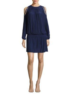 Shelby Cold-Shoulder Blouson Dress