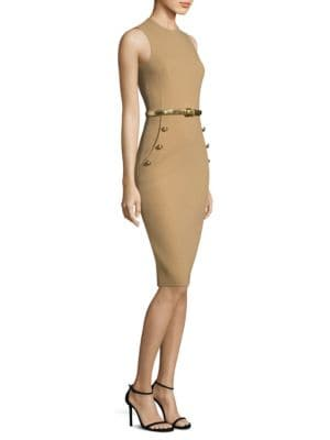 Wool Sheath Dress