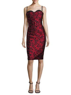 Silk Bustier Sheath Dress