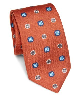 COLLECTION Flower Medallion Silk Tie