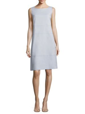 Xandria Stretch-Cotton Shift Dress