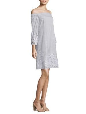 Palmira Embroidered Off-The-Shoulder Dress
