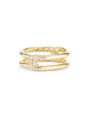 Continuance® Band Ring with Diamonds in 18K Gold