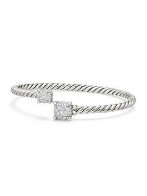 Diamond & Sterling Silver Chatelaine Stone Bracelet