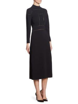 Open Knit Mockneck Dress