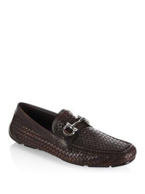 Parigi Woven Leather Metal Bit Loafers
