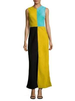Fit and Flare Color-Block Dress