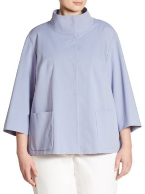 Darian Funnelneck Jacket by Lafayette 148 New York, Plus Size
