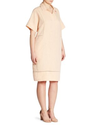 Baila Linen Shirtdress
