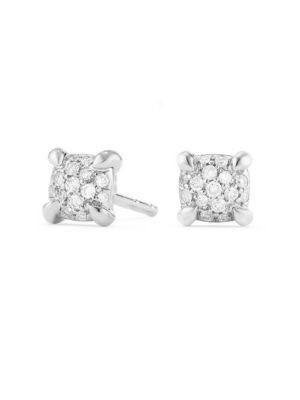 Châtelaine Diamond 18k White Gold Stud Earrings