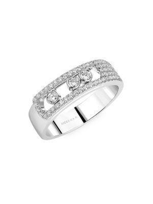Move Noa 18K White Gold & Diamond Pavé Ring