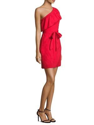 Tara One-Shoulder Poplin Dress