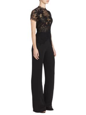 Short Sleeve Lace Jumpsuit