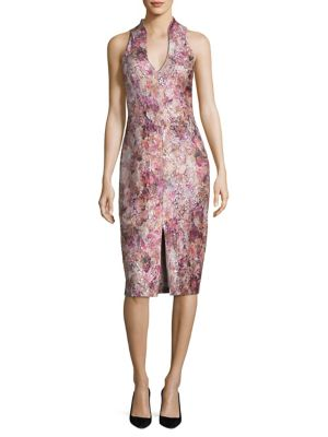 Floral Dress by Aidan Mattox