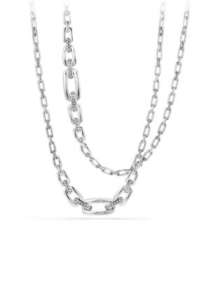 Diamonds & Sterling Silver Chain Necklace