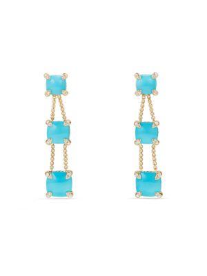 Chatelaine Linear Chain Earrings