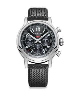 Mille Miglia Stainless Steel & Rubber-Strap Watch