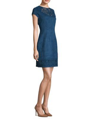 Suede Scuba Sheath Dress