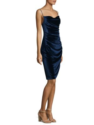 Stretch Velvet Sheath Dress