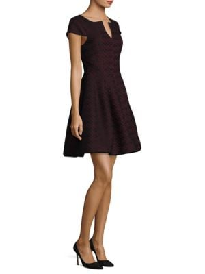 Bonded Lace Fit-&-Flare Dress